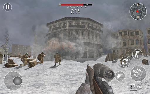World War 2 Winter Heroes - Free Shooting Games 1.2.2 screenshots 8