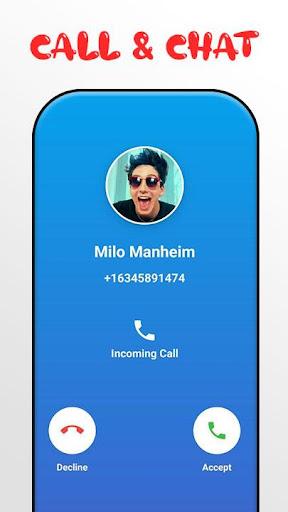 Milo Manheim Call Me! Fake Video Call screenshots 2