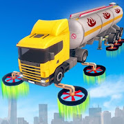 Flying Oil Tanker Transporter Truck Simulator Game