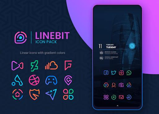 Linebit - Icon Pack 1.5.7 screenshots 1