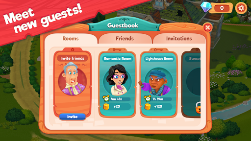 Delicious B&B: Match 3 game & Interactive story screenshots 12