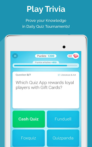CASH QUIZZ REWARDS: Trivia Game, Free Gift Cards 3.2.18 screenshots 13