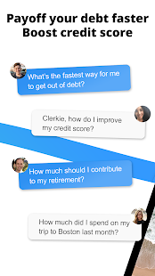 Clerkie: Payoff Debt, Bills, Bank Fees, Budget.