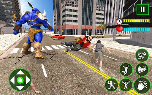 Incredible Monster City Battle - Superhero Games android2mod screenshots 12