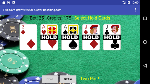 Five Card Draw Poker  screenshots 3