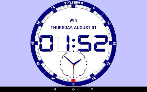 Analog and Digital Clock Live Wallpaper-7