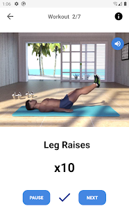 Six Pack Abs Workout at Home 1.6 Screenshots 3