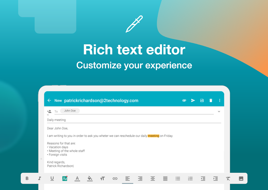 Email Aqua Mail - Exchange, SMIME, Smart inbox poster 13