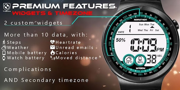 Digital One Watch Face Apk [Paid] Download for Android 6