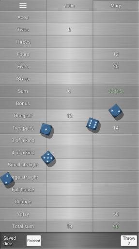 Yatzy Protocol & game screenshots 1