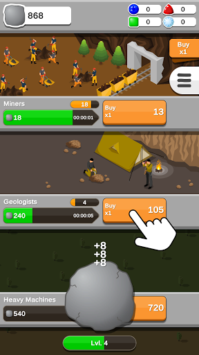 Rock Collector - Idle Clicker Game  screenshots 2