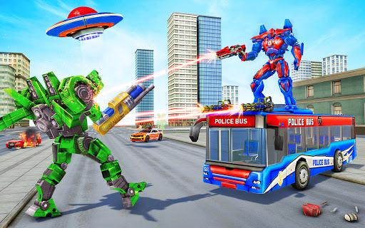 Bus Robot Car Transform Waru2013 Spaceship Robot game apkpoly screenshots 2