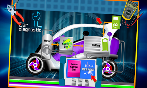 Electric Car Repairing - Auto Mechanic Workshop 1.2 screenshots 5