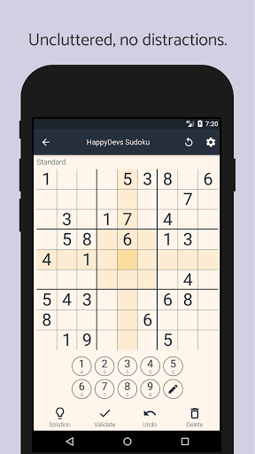 The Friendly Sudoku - Free Puzzles & No Ads 1.4.1 screenshots 1
