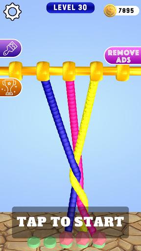 Télécharger Gratuit Untangle Rope 3D: dénouez les nœuds APK MOD (Astuce) screenshots 2