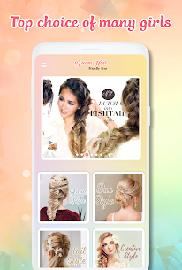 Hairstyle Apk app Hairstyles step by step for girls for Android 3