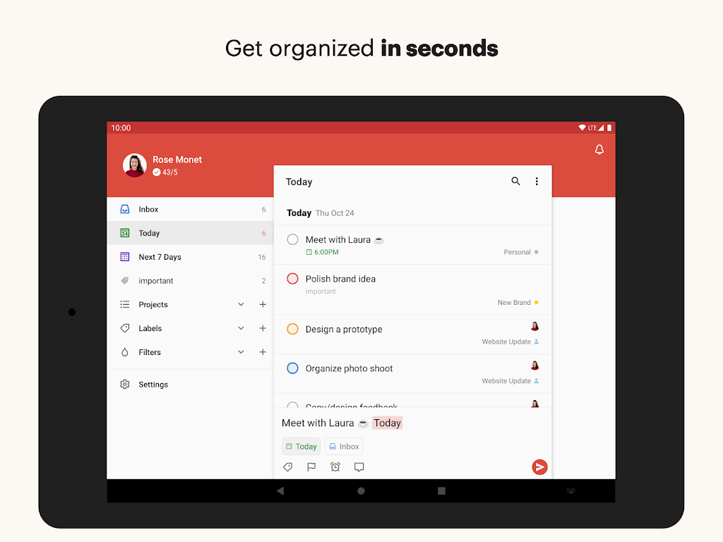 Todoist: To-Do List, Tasks & Reminders  poster 7