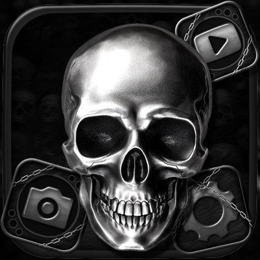 Skull Devil Launcher Theme