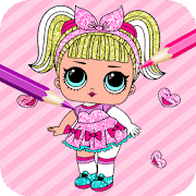 Cute Glitter Dolls Coloring Pages