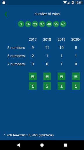KENO - combinations statistics 1.1.4 3