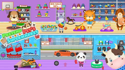 pretend pet supermarket: town animal mall shopping screenshot 3