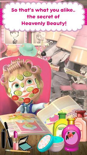 Masha and the Bear: Hair Salon and MakeUp Games apkpoly screenshots 6
