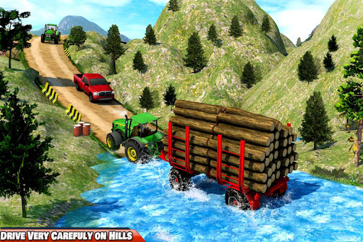 Drive Tractor trolley Offroad Cargo- Free 3D Games apkslow screenshots 8