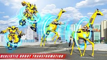 Wild Giraffe Robot Transforming Car Robot Games