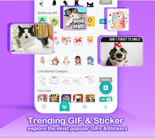 Kika Keyboard 2021 - Emoji Keyboard, Stickers, GIF 6.6.9.6601 Screenshots 4
