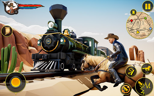 Cowboy Horse Riding Simulation apktram screenshots 8