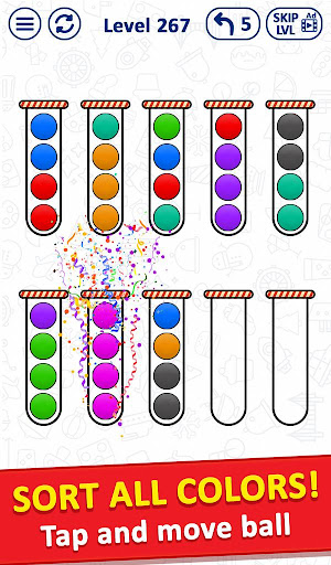 Ballu00a0Sort Puzzle - Bubble Sort Color Puzzle Game apkpoly screenshots 4