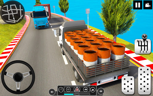 Log Transporter Truck Driving : Truck Games 2021 screenshots 12