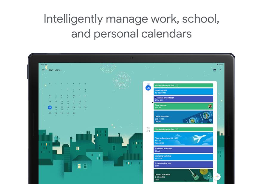 Google Calendar Android App Screenshot