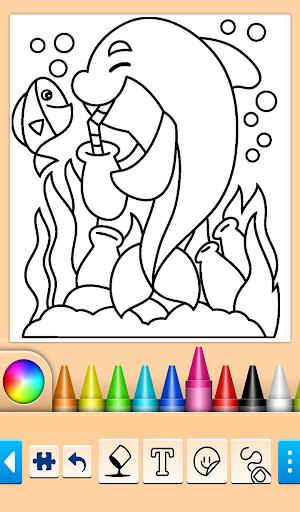 Dolphin and fish coloring book 16.3.2 screenshots 4