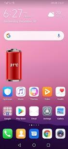 Battery Temperature Widget 4