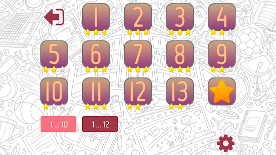 Multiplication Tables Screenshot