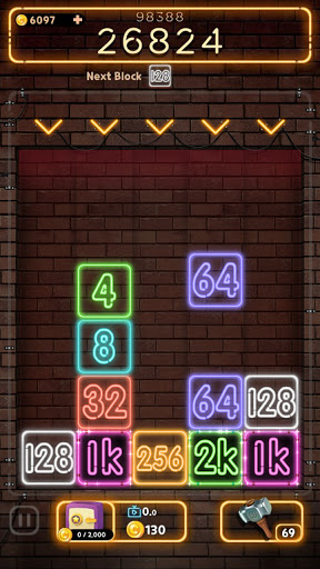Drop Number : Neon 2048 apktram screenshots 8