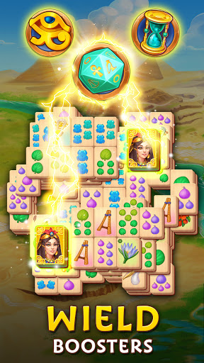 Pyramid of Mahjong: A tile matching city puzzle  screenshots 2