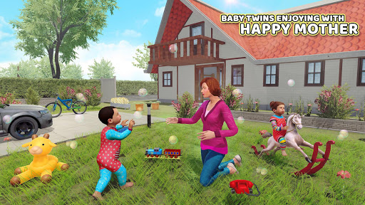 Virtual Mother Baby Twins Family Simulator Games apktreat screenshots 2