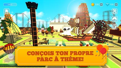 Code Triche Roller Coaster Craft: Construction d'Attractions APK MOD (Astuce) screenshots 1