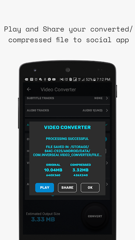 Video Converter, Compressor MP4, 3GP, MKV,MOV, AVI  poster 6