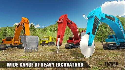 Heavy Excavator Rock Mining Stone Cutter Simulator 4.5 screenshots 5