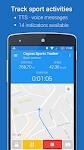 screenshot of GPS Sports Tracker App: running, walking, cycling