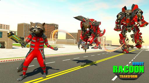Raccoon Robot Hero Game: Flying Bike Robot Games  Screenshots 13