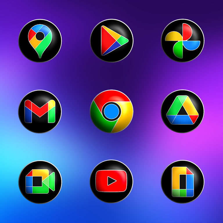 Pixly Fluo 3D - Icon Pack  poster 3