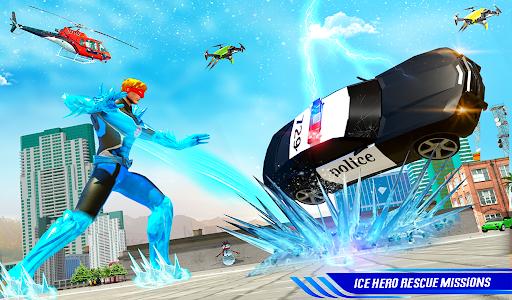 Flying Police Robot Snow Storm Hero: Crime City apktram screenshots 9