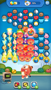 LINE HELLO BT21- Cute bubble-shooting puzzle game! Screenshot