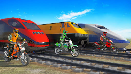 Bike vs. Train u2013 Top Speed Train Race Challenge modavailable screenshots 3