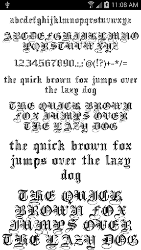 Fonts for FlipFont 50 #6 4.0.4 Screenshots 5