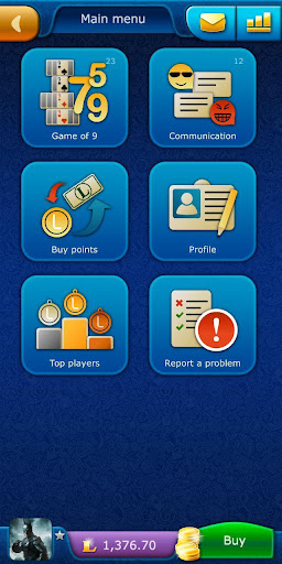 sevens livegames: free online card game screenshot 1